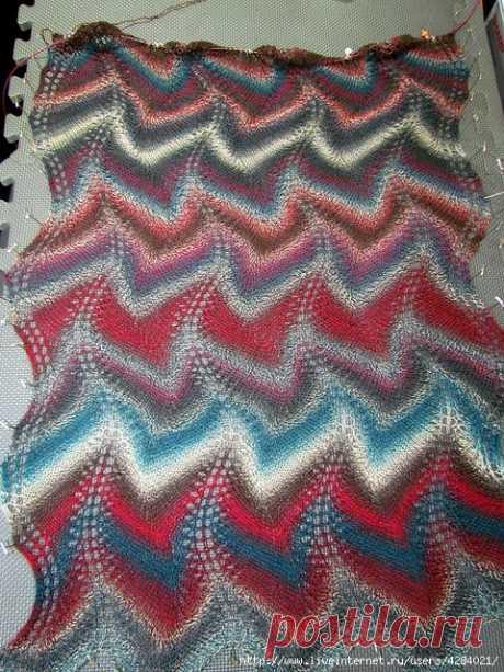 Схемы вязания узора миссони