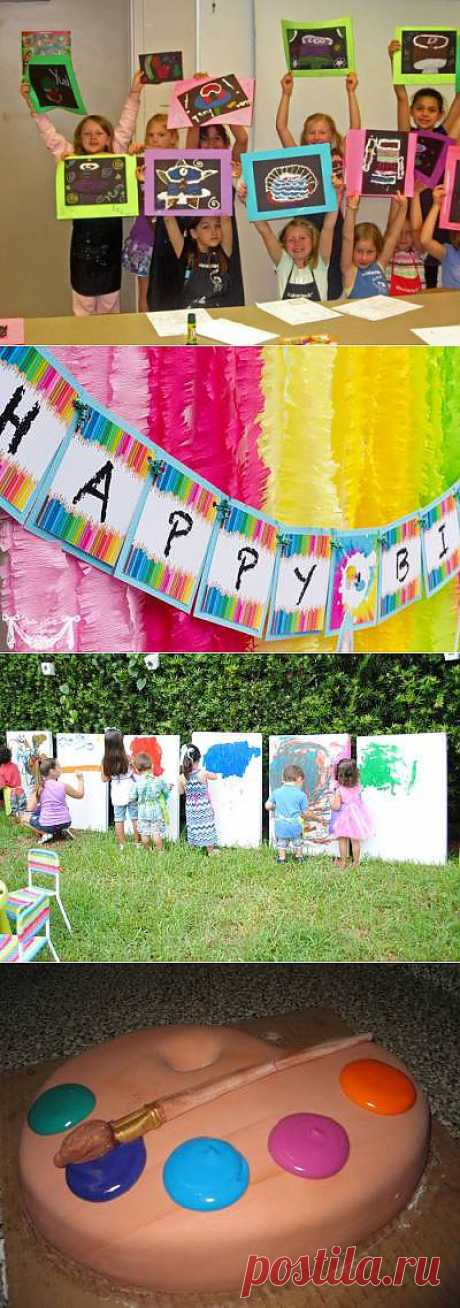 Творческий день рождения «Художники» - Детский день рождения - Идеи и сценарии