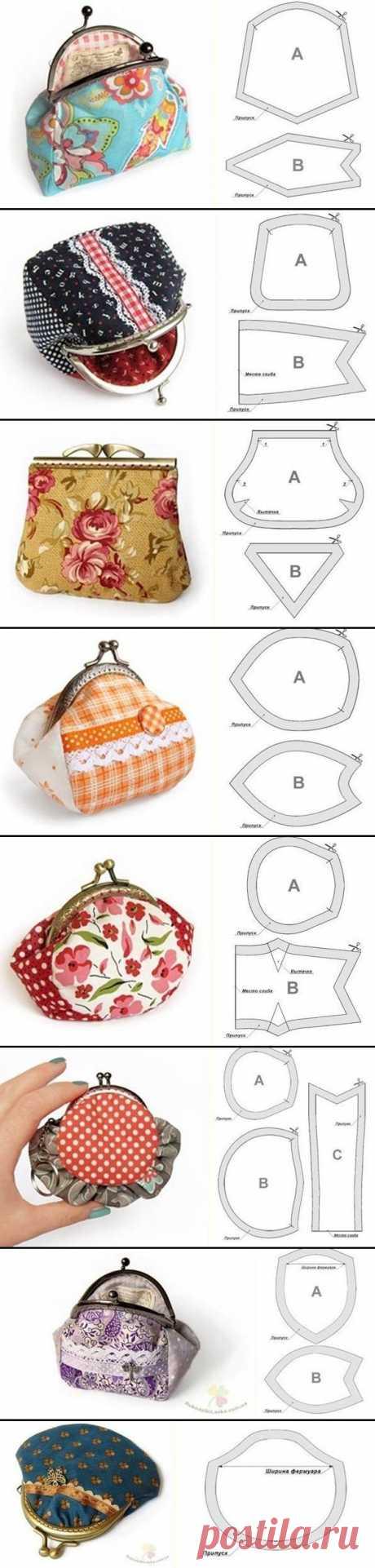 Los patrones de las bolsas y los portamonedas, la elección de la foto por el uso de las manecillas. - la costura y el dibujo. - las Clases maestras - Kalinkapolinka