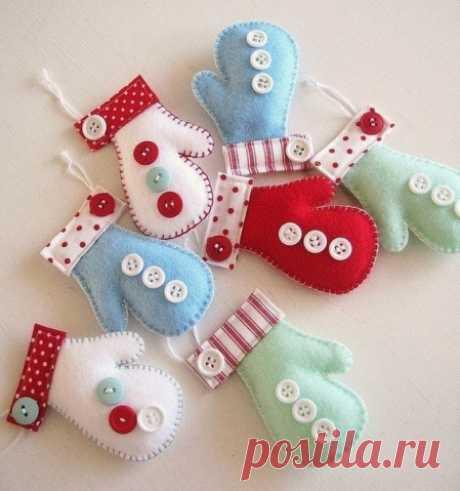 Los juguetes del fieltro al abeto - el Artículo con los niños | Detkipodelki