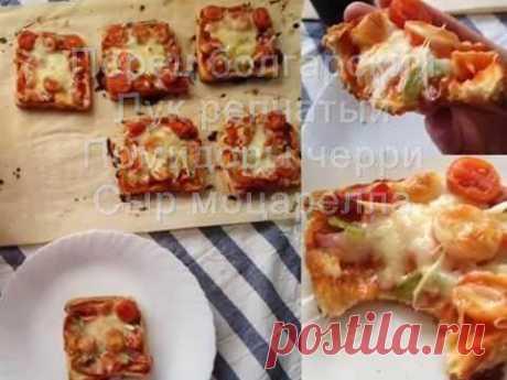 Быстрая пицца на хлебе