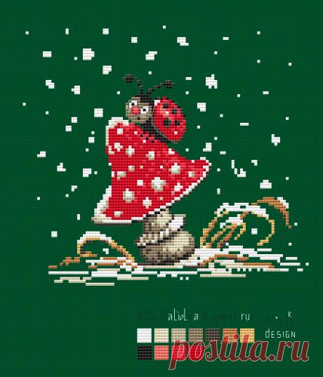 Mis tvorilki *** Aliolka design: la Primera nieve. La mariquita.