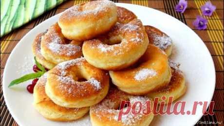 Кефирные пончики за 5 минут. Тают во рту, а не в руках!