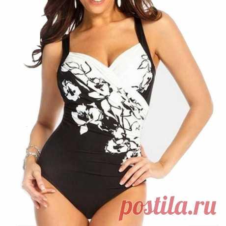 Купальник женский слитный с чашками пуш-ап, пикантный купальник большого размера, Закрытое Тело, купальный костюм для бассейна, пляжная одежда | Спорт и развлечения | АлиЭкспресс