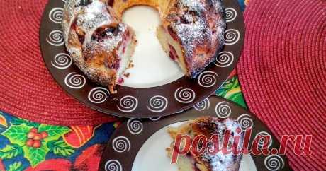 Кекс творожный с вишней блог о жизни, кухне, книгах, вышивке, вязании