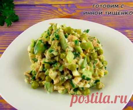 Салат с тунцом Пятиминутка