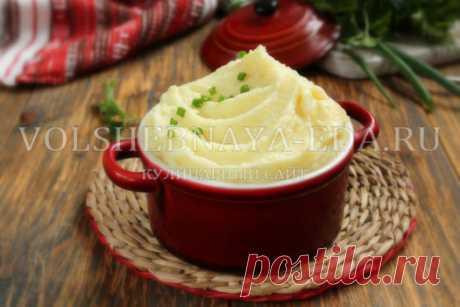 Картофельное пюре с чесночным соусом по мотивам французской кухни
