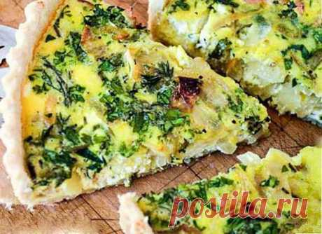 Достаточно простой в приготовлении пирог с сыром и зеленью | Готовим рецепты | Яндекс Дзен