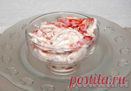 "Салат ""Красное море"" с кальмарами (рецепт с фото) | RUtxt.ru"