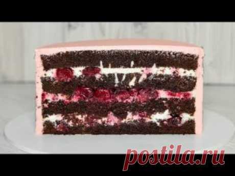 La torta los BOSQUES FOLIÁCEOS ☆ la TORTA la Selva Negra ☆ la Guinda-chocolate