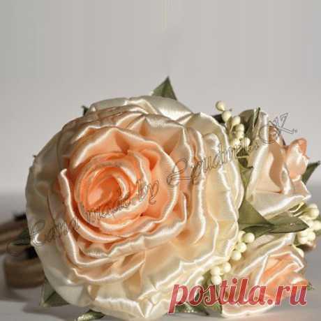 Как сделать розу из атласных лент