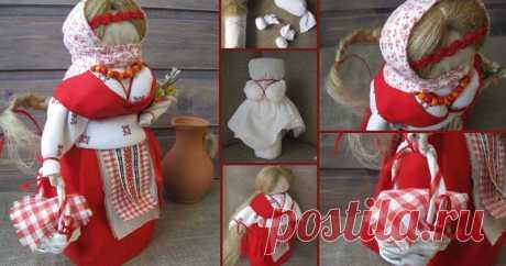 Народная кукла Пасха (Вербница). Мастер-класс Сегодня я хочу представить мастер-класс по созданию своими руками пасхальной обереговой куколки Вербница.
