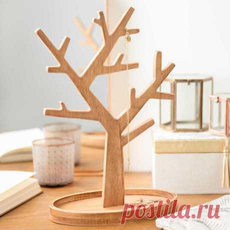 Portajoyas de madera H 30 cm ESCOBA ... -