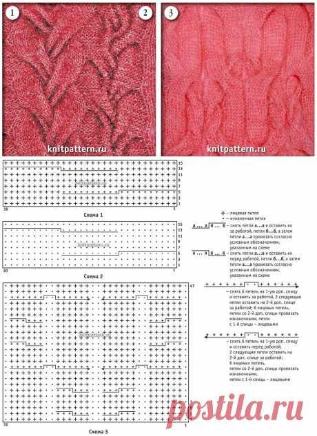 Узор косы спицами схемы и описание - 50 вариантов выполнения