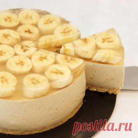 Банановый чизкейк без выпечки