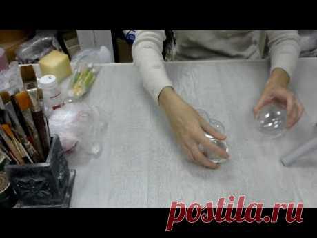 Декор пластикового шара глиной. Зоя Меркулова