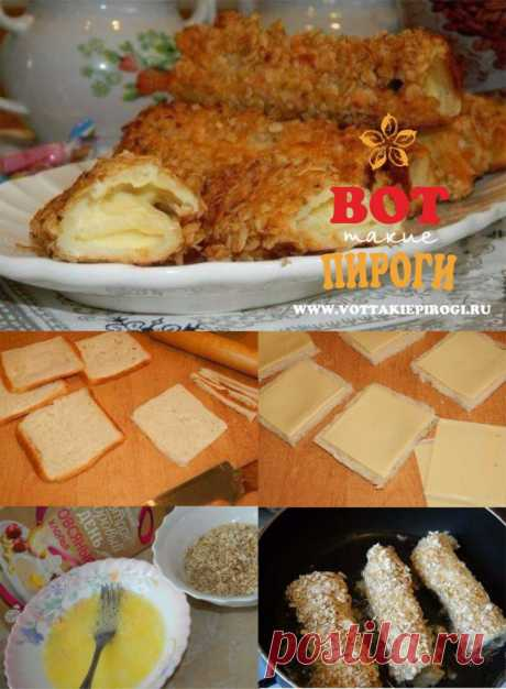 Скорые горячие бутерброды с сыром, чесноком и зеленью   ВОТ ТАКИЕ ПИРОГИ