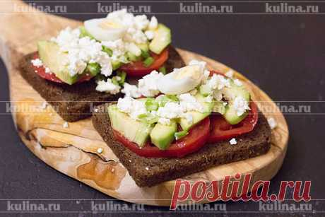 Бутерброд с авокадо: вкусно и полезно на завтрак – рецепт приготовления с фото от Kulina.Ru