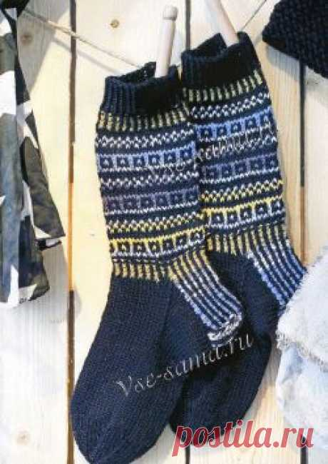 Men's socks with an ornament