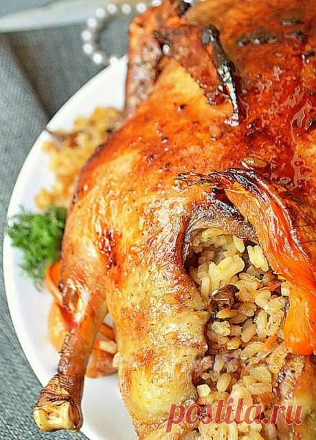 Утка, фаршированная рисом и потрохами — Sloosh – кулинарные рецепты