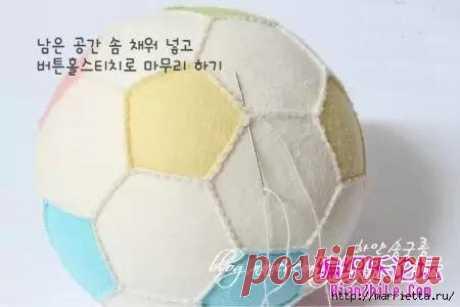 Как сшить футбольный мяч из фетра