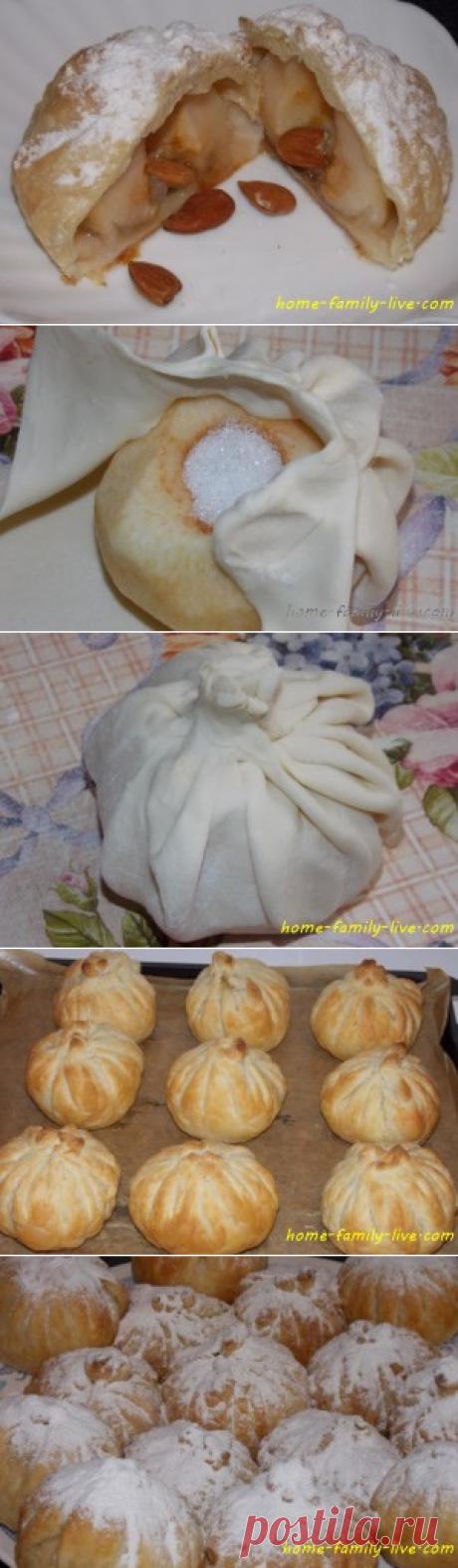 Слойка с яблоком/Сайт с пошаговыми рецептами с фото для тех кто любит готовить
