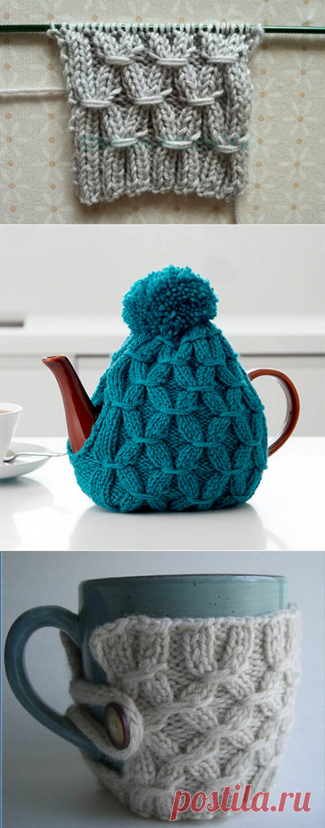 Резинка с обвитыми петлями – идеальный узор для вязания аксессуаров | 1000 идей для вязания спицами | Яндекс Дзен