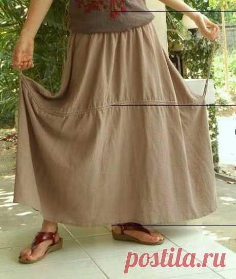 Шьем юбку в стиле бохо со шнуровкой - Домоводство - медиаплатформа МирТесен