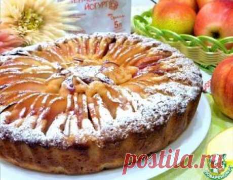 """Яблочно-грушевый пирог """"Хризантема"""" – кулинарный рецепт"""