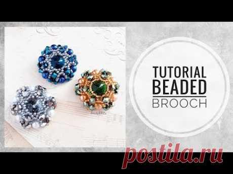 #МК - Брошь из бисера | #Tutorial - beaded brooch