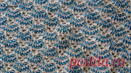 We master knitting with beads: provyazyvay beads in columns with nakidy