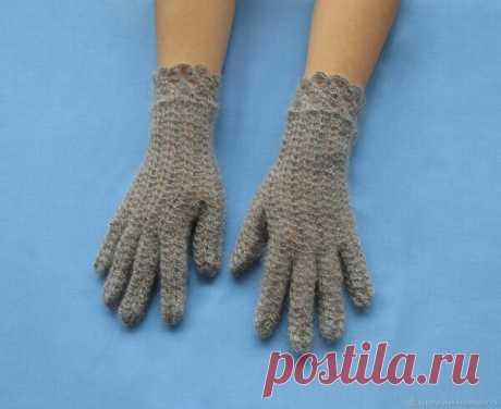 Вяжем перчатки крючком | Рукоделие | Яндекс Дзен