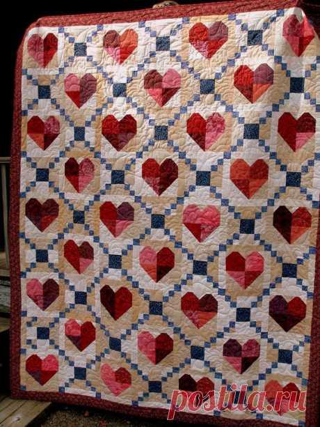 Пэчворк с сердечками - часть 2 (трафик) Модная одежда и дизайн интерьера своими руками
