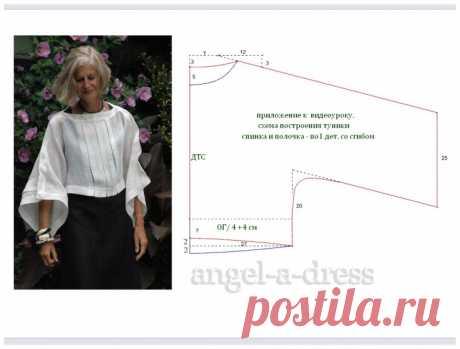 Выкройка бохо блузы изо льна / Простые выкройки / ВТОРАЯ УЛИЦА - Выкройки, мода и современное рукоделие и DIY