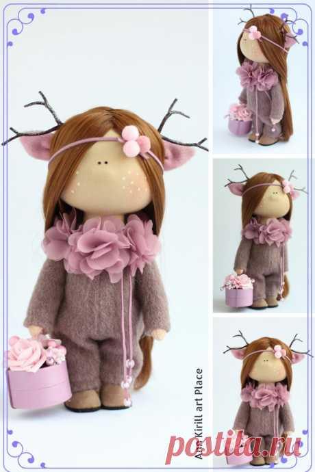 Valentines Gift Doll Textile Art Doll Interior Tilda Doll | Etsy