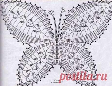 Мотивы крючком, которые можно использовать для салфеток, одежды и аксессуаров - большая подборка схем бабочек. Вязаные крючком бабочки могут превратится, как в аксессуар, так и в дополнение одежды