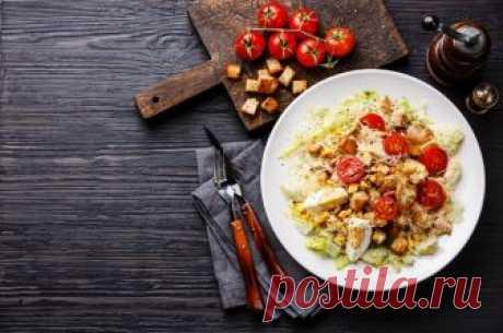 Салат Цезарь с сухариками и курицей | Смачно Как приготовить салат Цезарь. Рецепт Цезаря с курицей и сухариками
