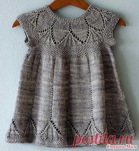Вяжем платье с ажурным узором для маленькой девочки   Вяжем детям