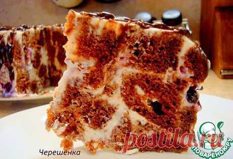 Шоколадный торт с творожно-йогуртовым кремом. Olena731