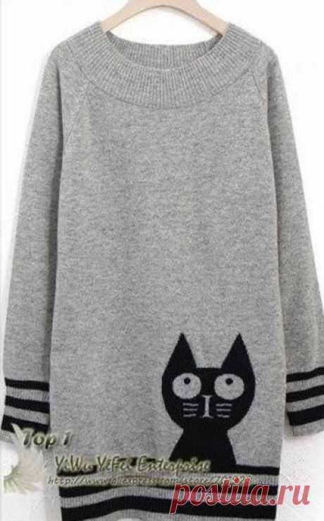 """Dress with a pattern \""""Cat\"""" spokes"""