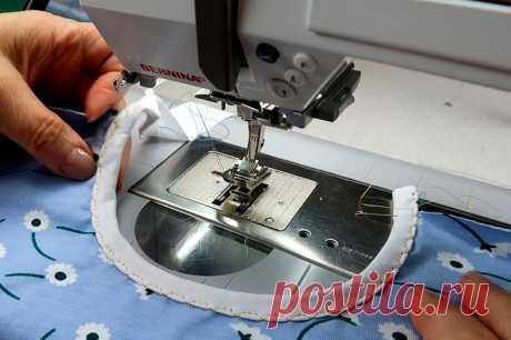 Окантовка горловины на швейной машине   ШЬЮ САМА