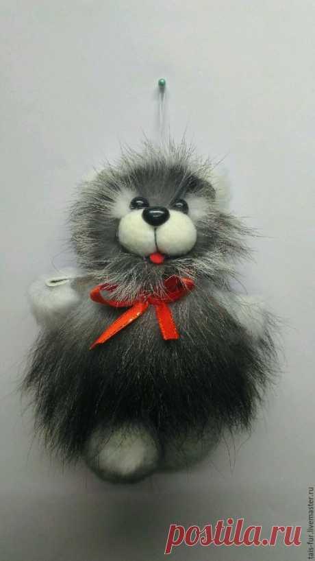 Купить Игрушка из меха,Мишка, меховая игрушка,сувенир, подвеска в авто,добрый - сувениры и подарки