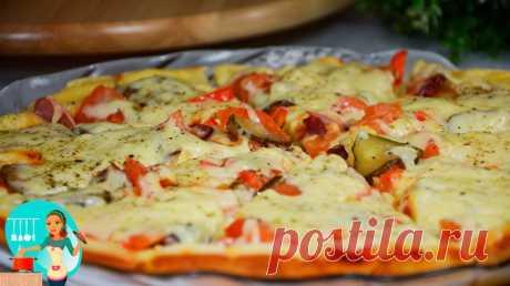 Рецепт пиццы на скорую руку - просто находка и палочка-выручалочка!
