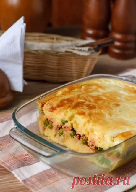 Картофельная запеканка с мясом и горошком - это просто, вкусно и доступно!