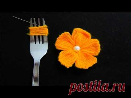 Hand Embroidery Amazing Trick# Easy Flower Embroidery Trick# Sewing Hack