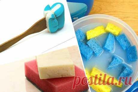 8 неожиданных способов применения губки для мытья посуды! — Полезные советы
