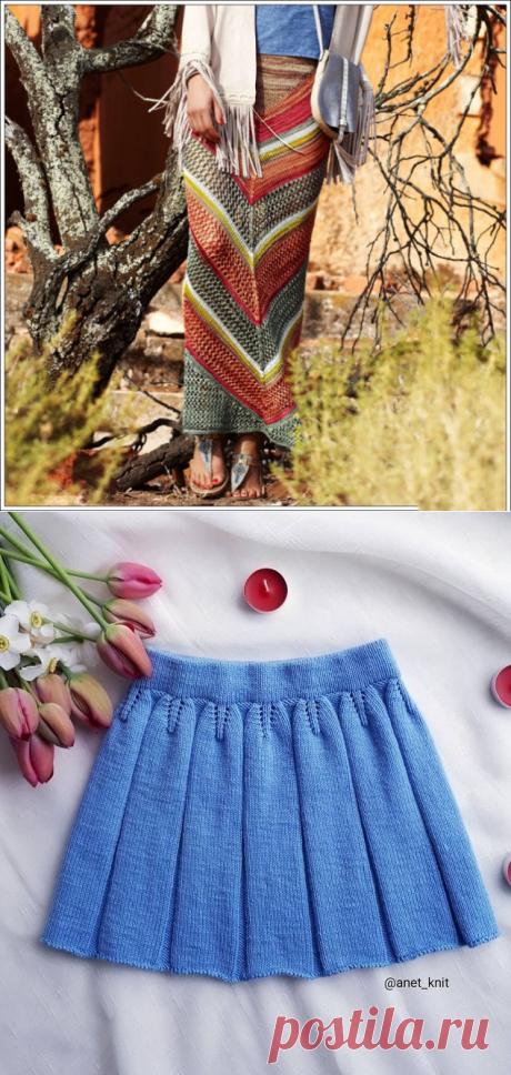 Юбки спицами. Три прекрасные модели | Модное вязание | Яндекс Дзен