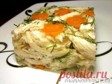 Холодец из курицы с желатином - рецепт с фото   И вкусно и просто