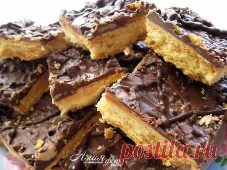 Печенье с карамелью и шоколадом: