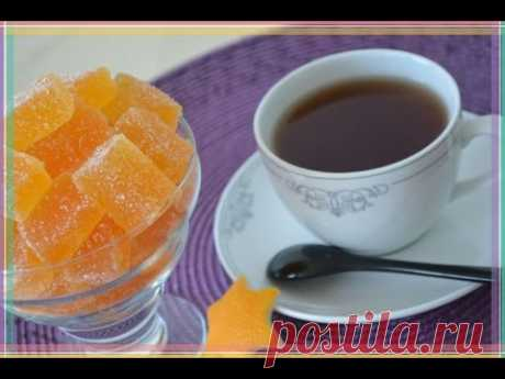 Orange FRUIT JELLY. Recipe. Pate de fruits